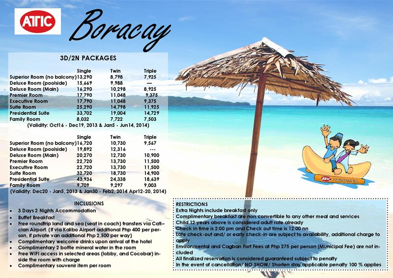 3D2N Boracay Group Tour From PHP7925 Tour Packages 2016