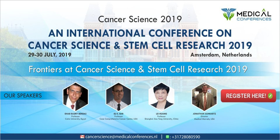 Banner for Stem Cell Reseach conference 2019