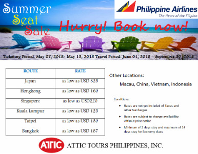 PAL summer seat sale