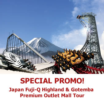 Japan Fuji-Q Highland & Gotemba Premium Outlet Mall Tour